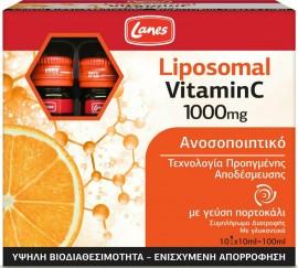 Lanes Liposomal Vitamin C Πορτοκάλι 1000mg, 10x10ml