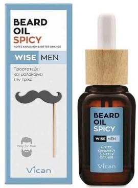 Vican Wise Men Beard Oil Spicy, 30ml
