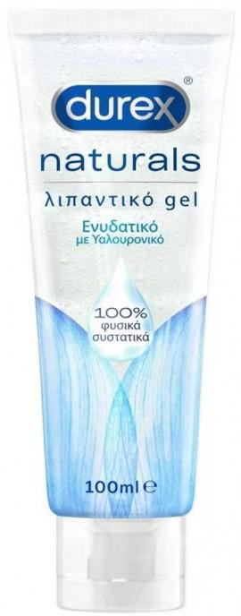 Durex Naturals Hyaluronic Ενυδατικό Λιπαντικό Gel 100% Φυσικά Συστατικά, 100ml