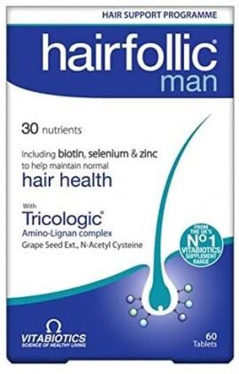 Vitabiotics Hairfolic Man, 60 Ταμπλέτες
