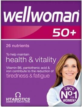 Vitabiotics Wellwoman 50+, 30 Ταμπλέτες