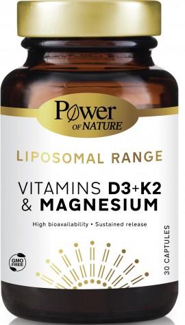 Power Health Liposomal Range Vitamins D3+K2 & Magnesium, 30 Κάψουλες