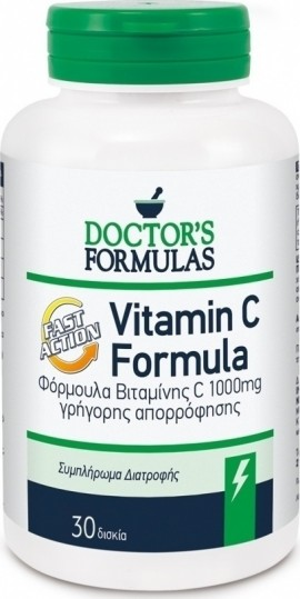Doctors Formulas Vitamin C 1000mg, 30 Ταμπλέτες