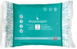 Pharmasept Hygienic Cleansing Gloves, 10 Τεμάχια