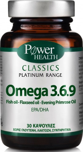 Power Health Platinum Omega 3.6.9, 30 Κάψουλες