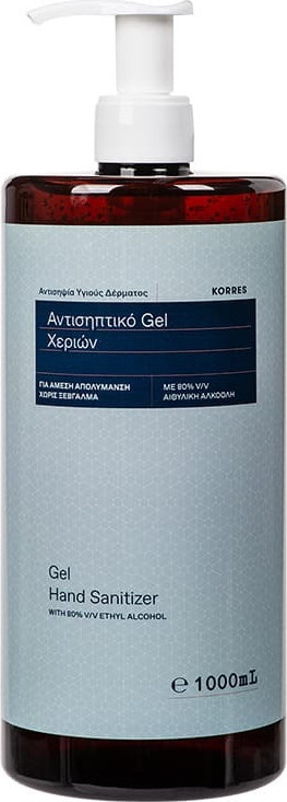 Korres Αντισηπτικό Gel Χεριών Με 80% Aιθυλική Αλκοόλη, 1000ml