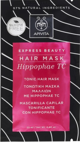 Apivita Express Beauty Tonic Hair Mask με Hippophae T.C, 20ml