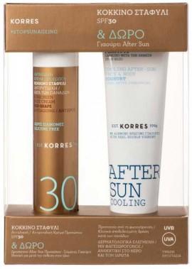 Korres Κόκκινο Σταφύλι Αντηλιακή & Αντιρυτιδική Κρέμα SPF30, 50ml &  Δώρο Cooling After Sun, 50ml