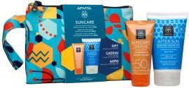 Apivita Suncare Sensitive Face Cream SPF50, 50ml & Δώρο After Sun Cooling Cream-Gel, 100ml